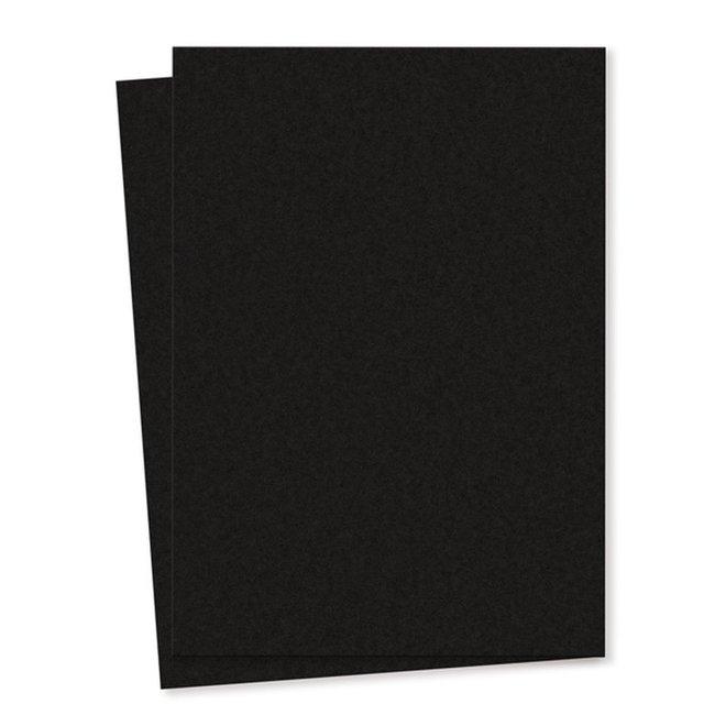Blanco kaart A6 set van 10 - zwart