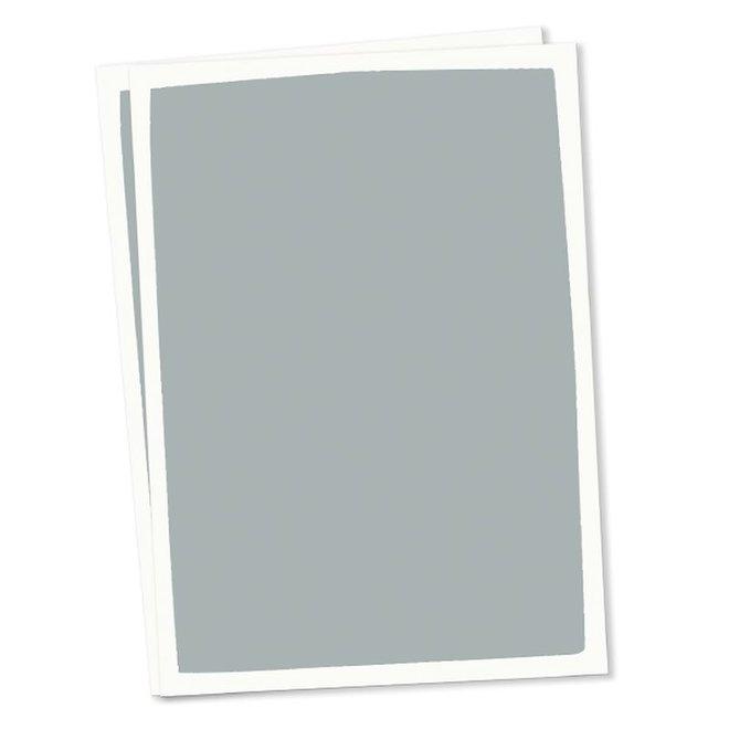 Blanco kaart set van 10 - blauw
