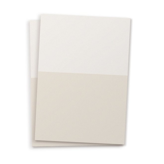 Blanco kaart A6 set van 10 - duo kleur light sand