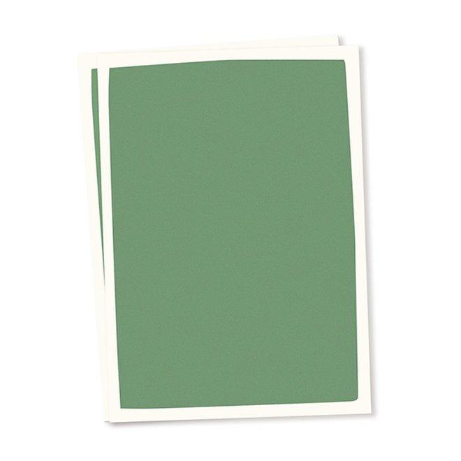 Blanco kaart A6 set van 10 - donkergroen