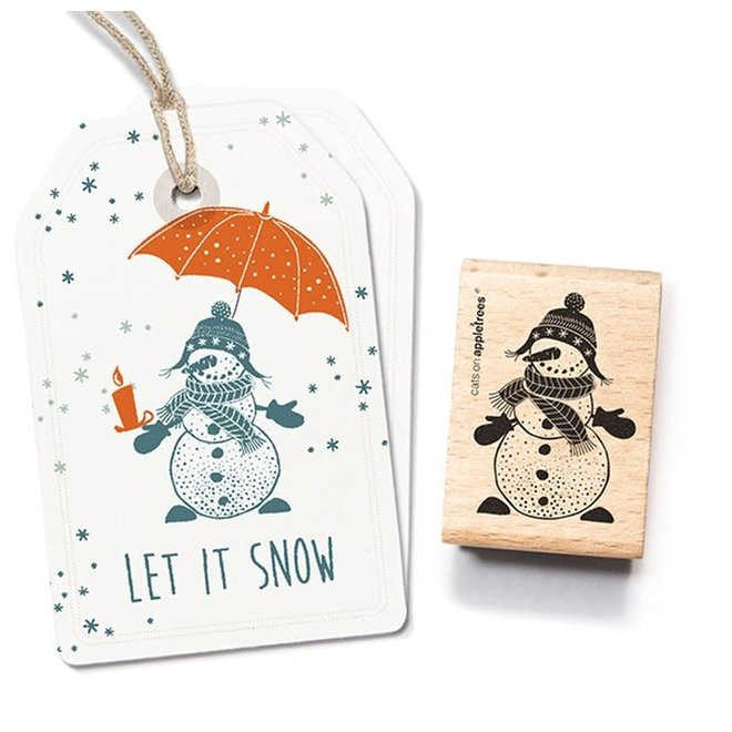 Stempel Sneeuwpop vrouw 27572