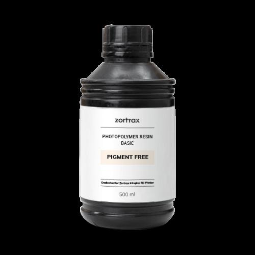 Zortrax Zortrax Basic resin - Pigment Free - 500 ml