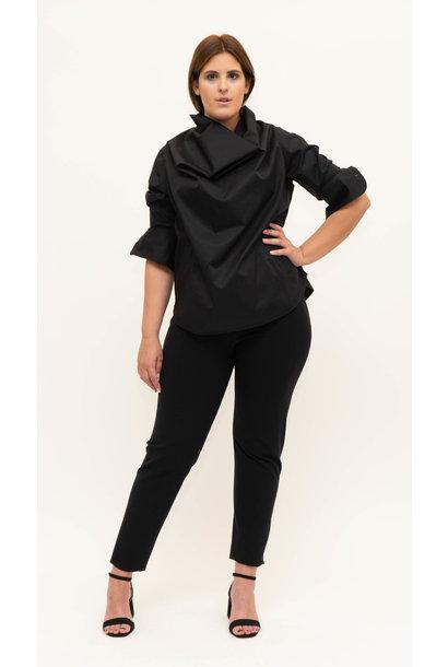 SHIRAZ Bluse aus leicht gecrashter Baumwolle