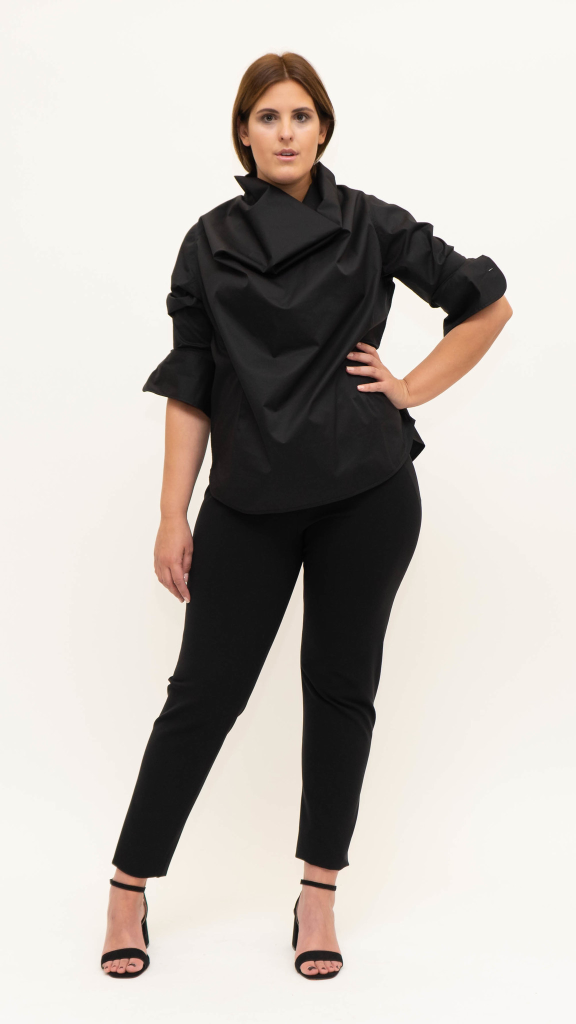 Shiraz Blouse in lightly crushed Cotton-1