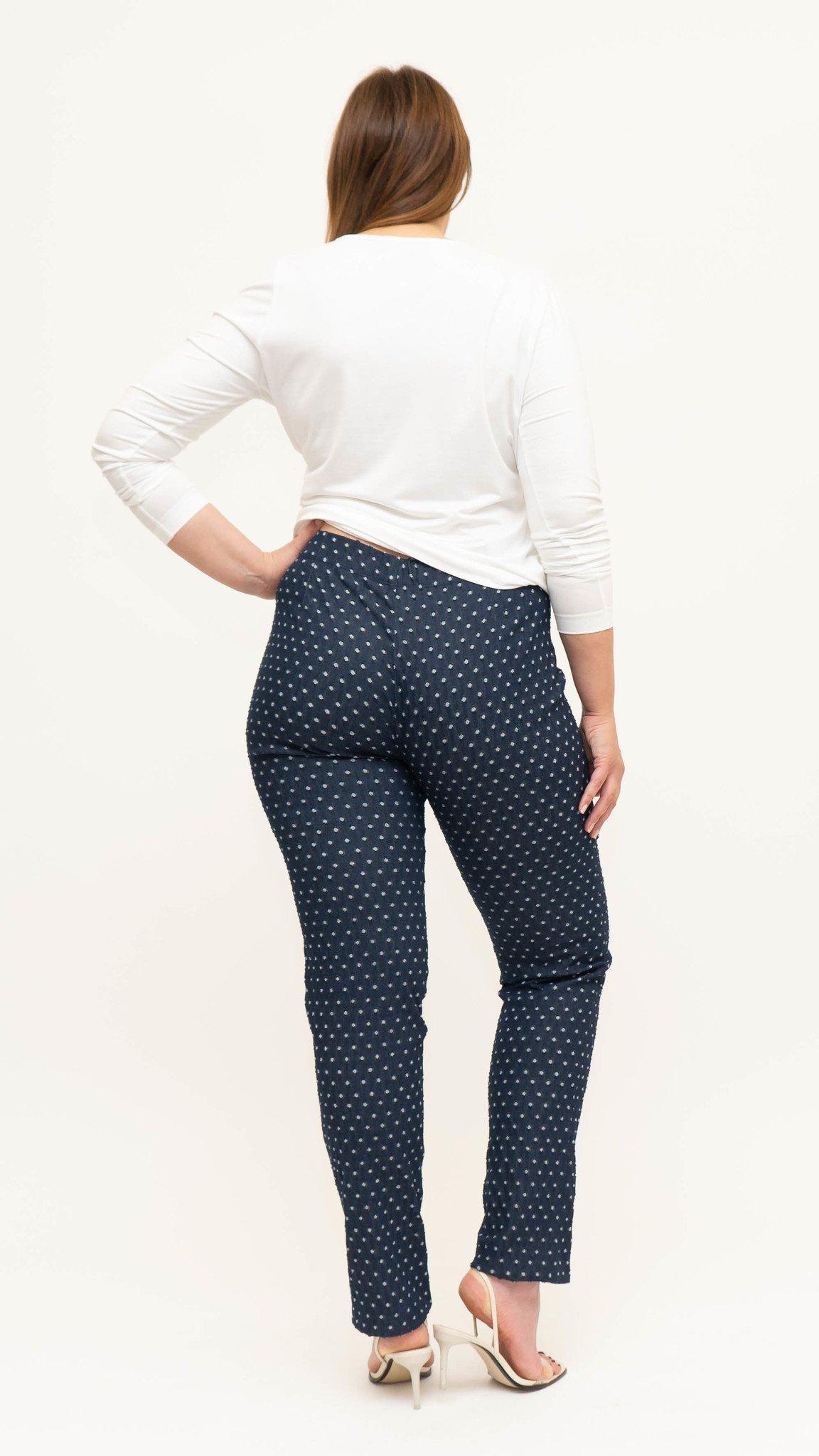 BEST Hose in strukturiertem und bedrucktem Denim-2