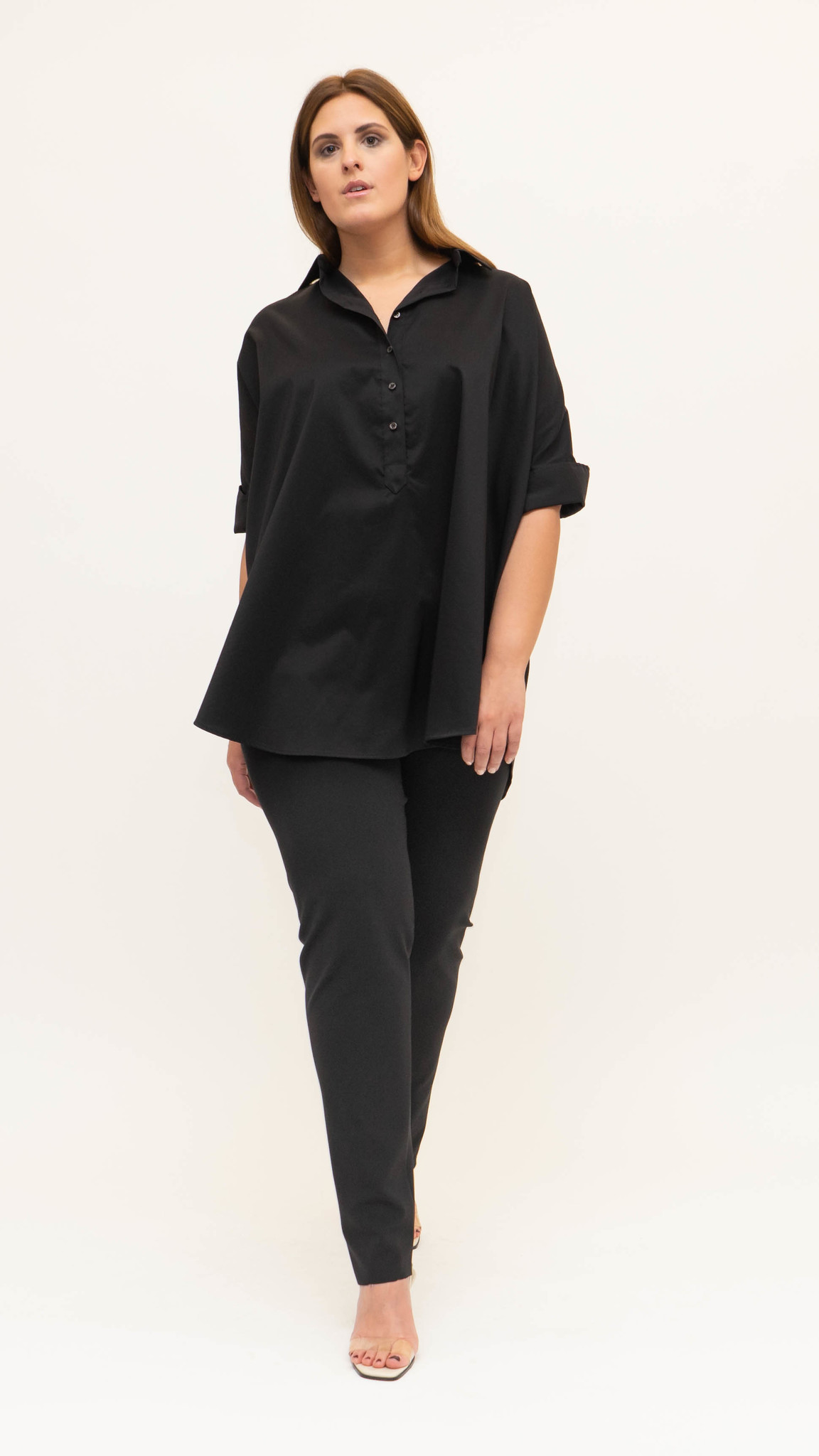 ARETHA Blouse in Cotton Popeline stretch-3