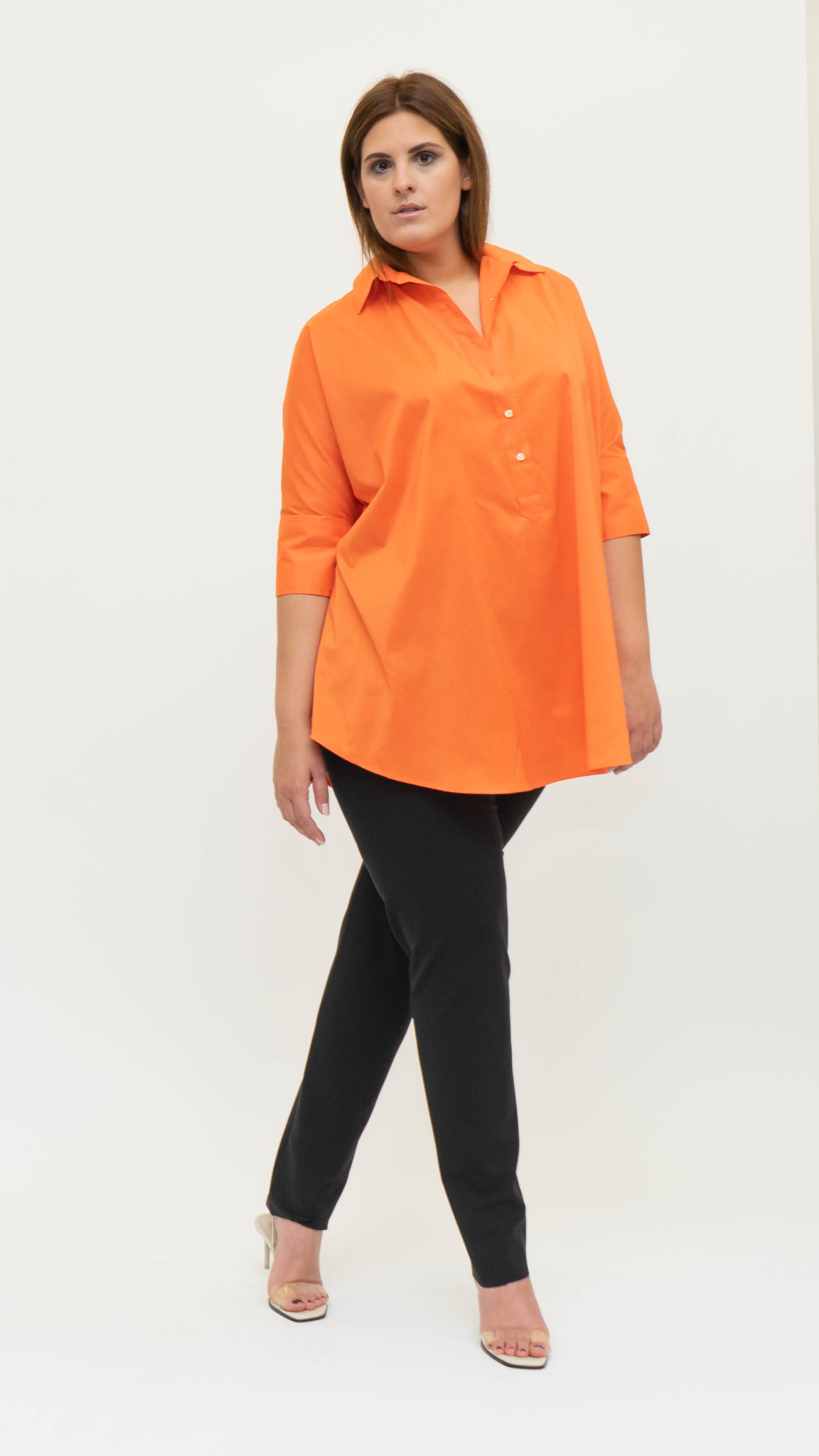 ARETHA Blouse in Cotton Popeline stretch-4