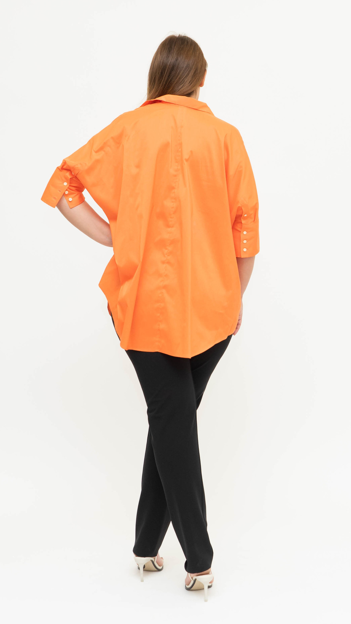 ARETHA Blouse in Cotton Popeline stretch-5