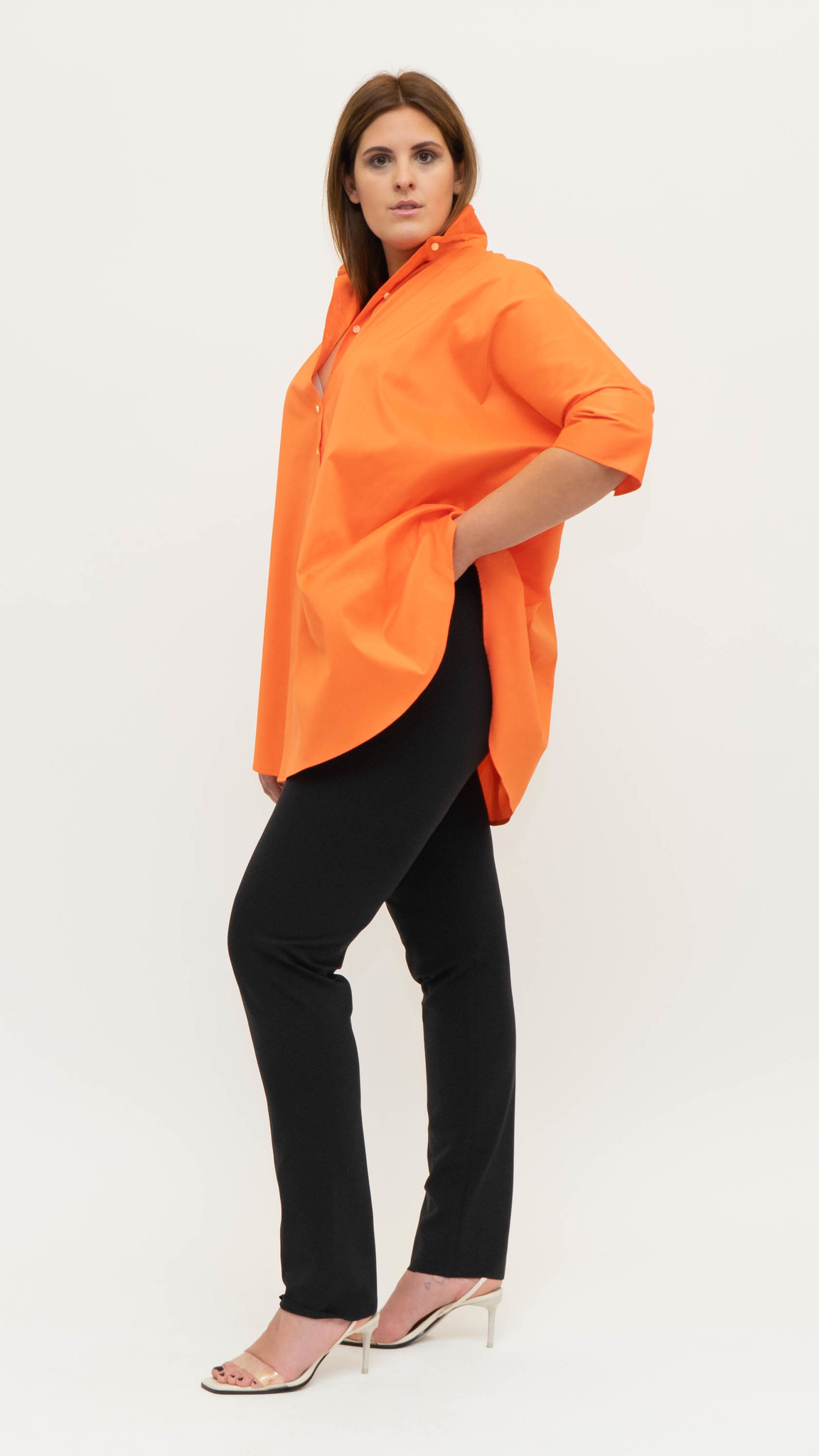 ARETHA Blouse in Cotton Popeline stretch-6