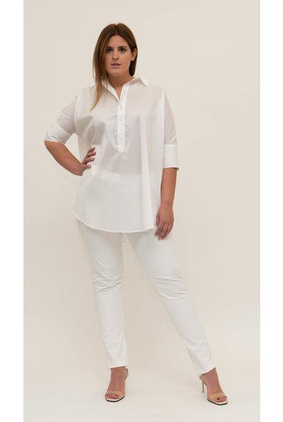 ARETHA Bluse aus Baumwoll Popeline Stretch