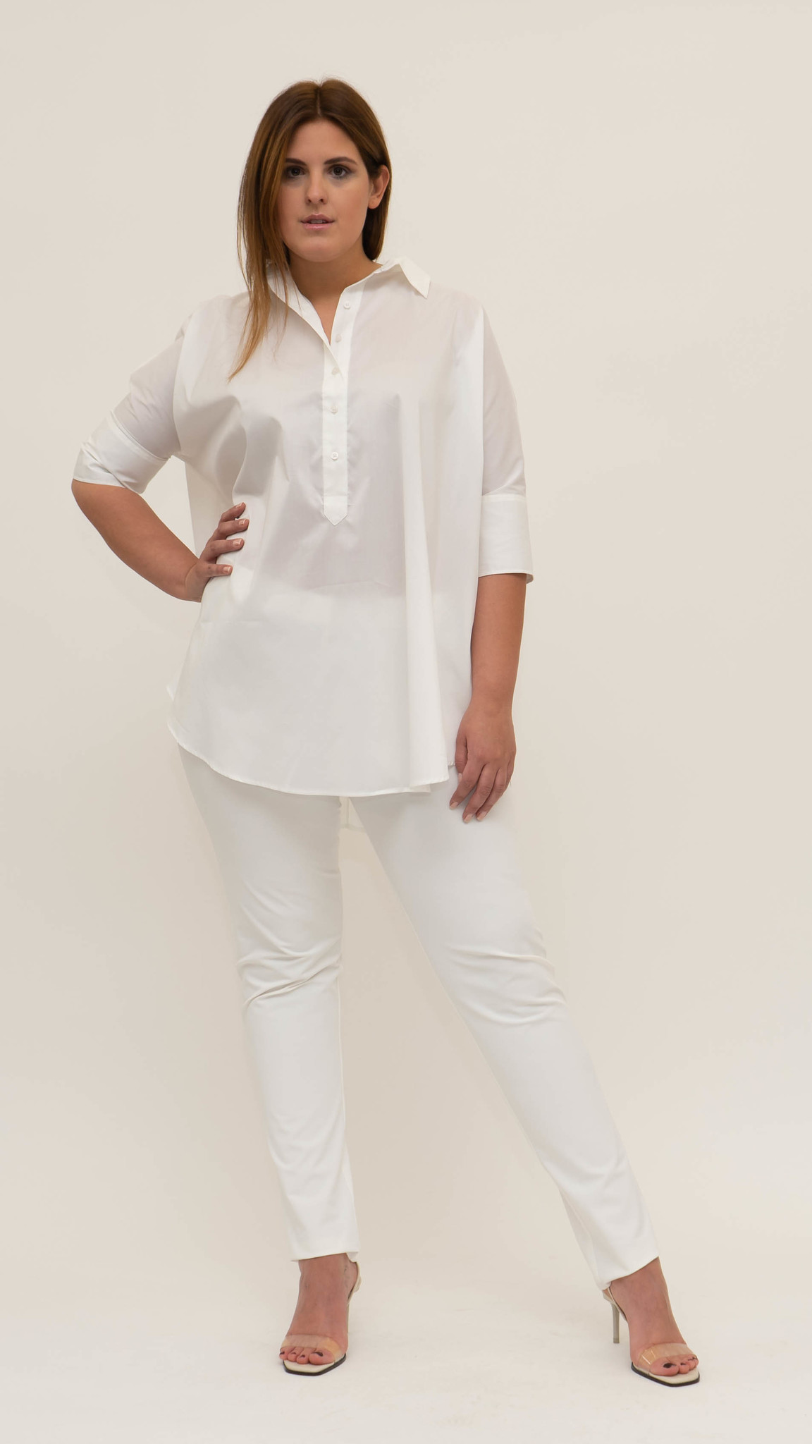 ARETHA Blouse in Cotton Popeline stretch-1