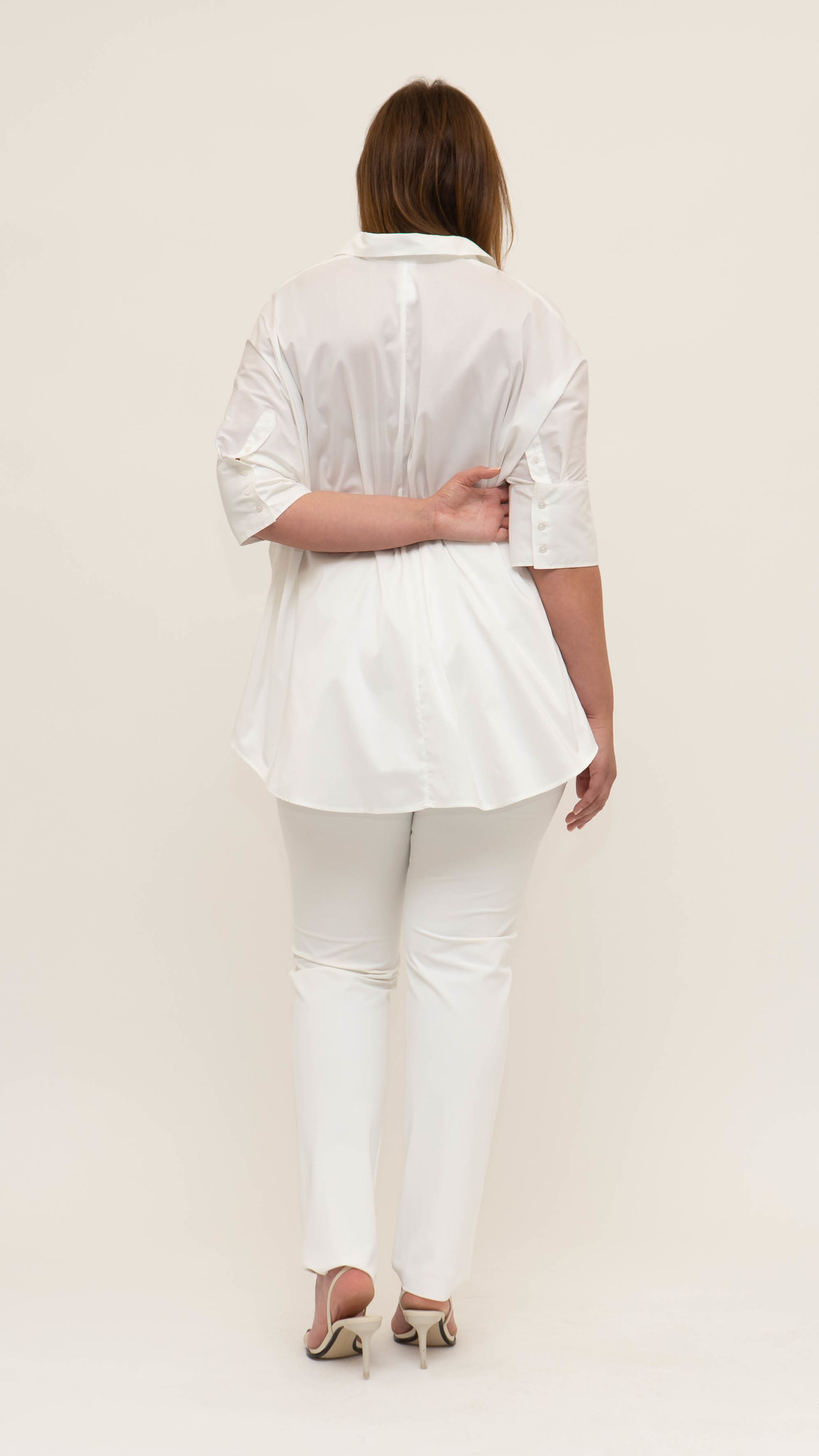 ARETHA Blouse in Cotton Popeline stretch-2