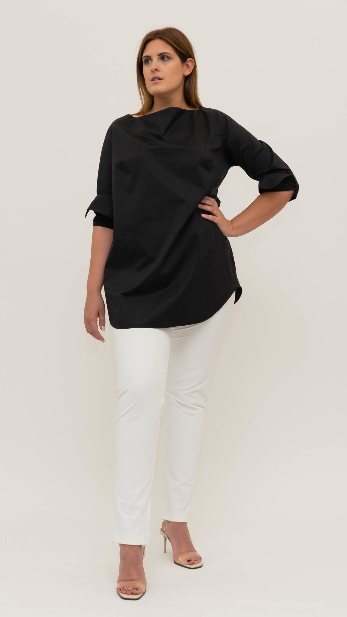 ZOJA Blouse in lightly crushed Cotton-5