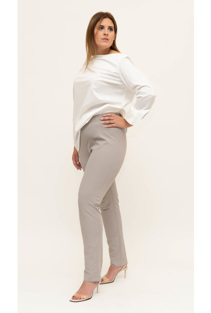 AMANDA Trousers in Poly-Cotton stretch