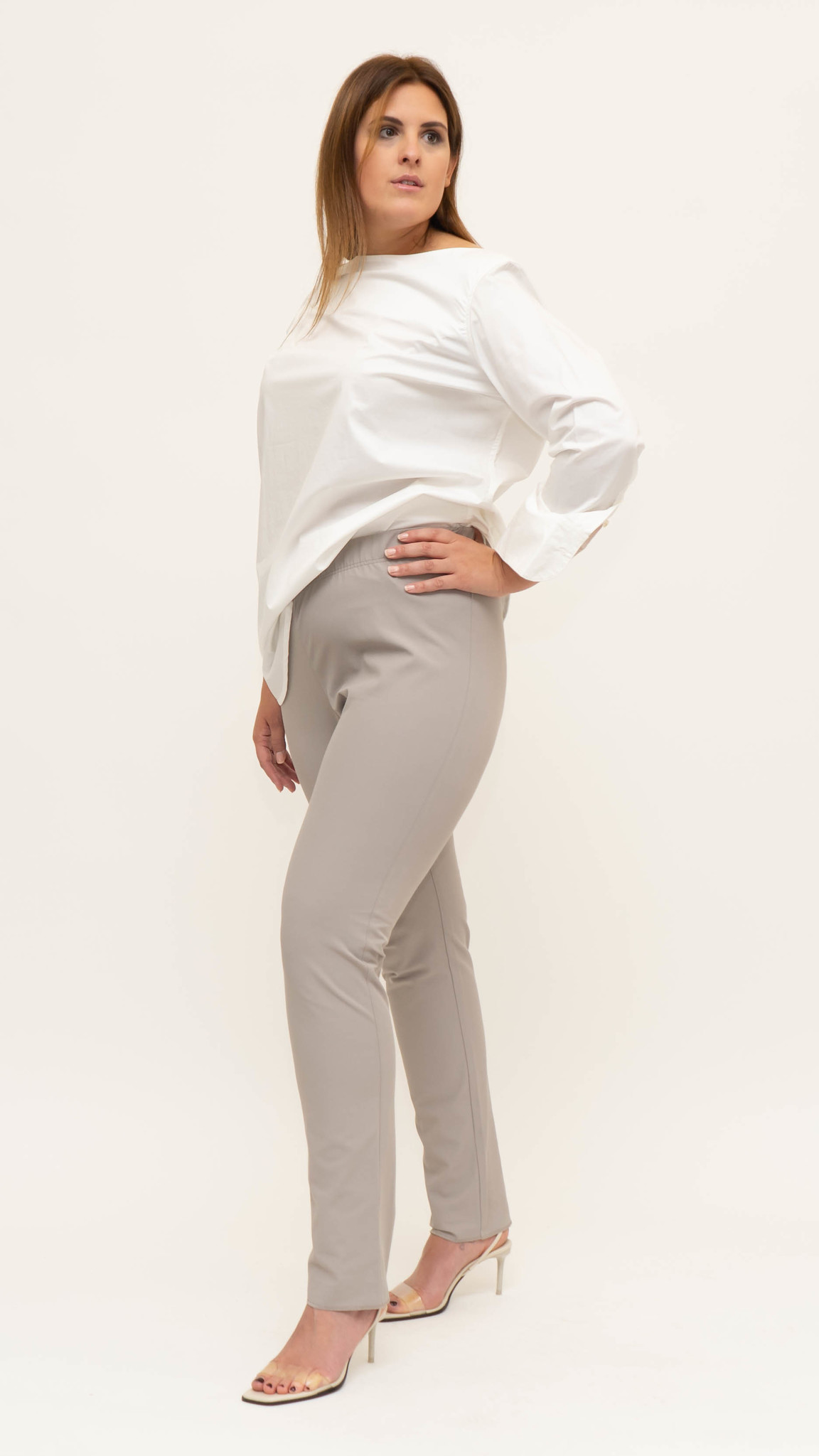 AMANDA Trouser in Poly-Cotton stretch-1