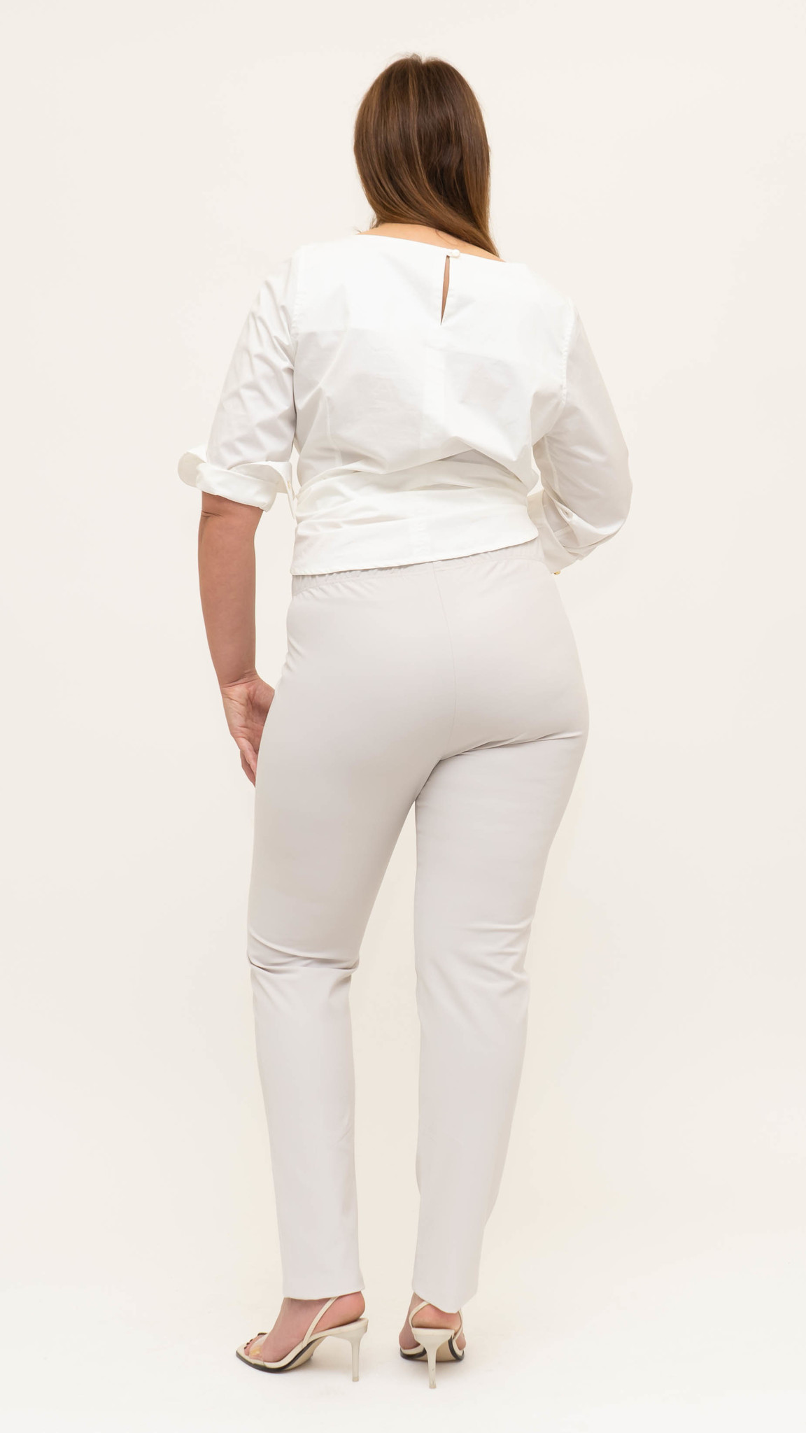 AMANDA Trouser in Poly-Cotton stretch-4