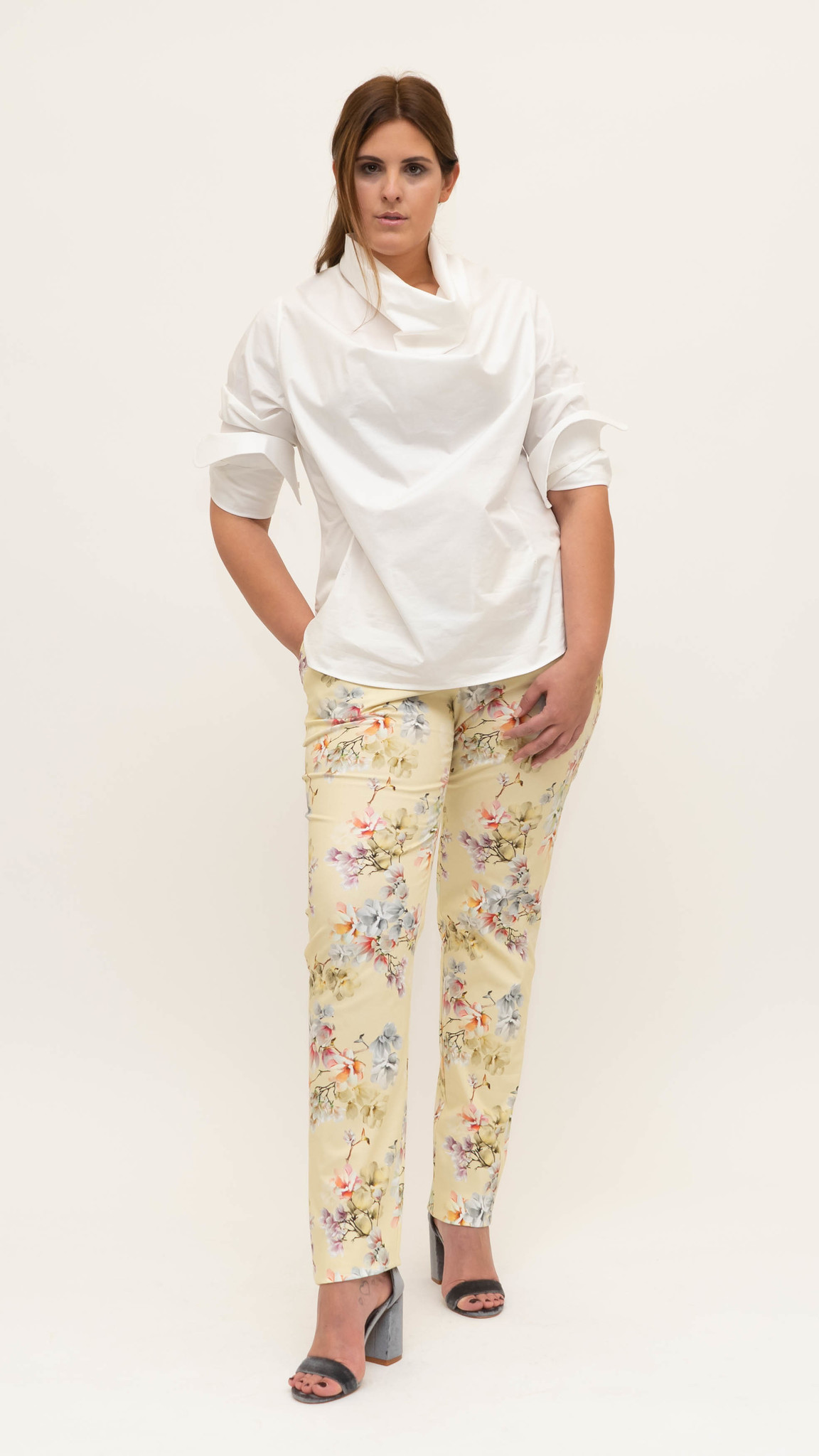 Mag Trouser in Cotton stretch-1
