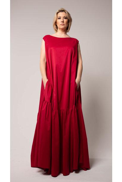CHRISTINA Kleid aus Baumwoll Popeline Stretch