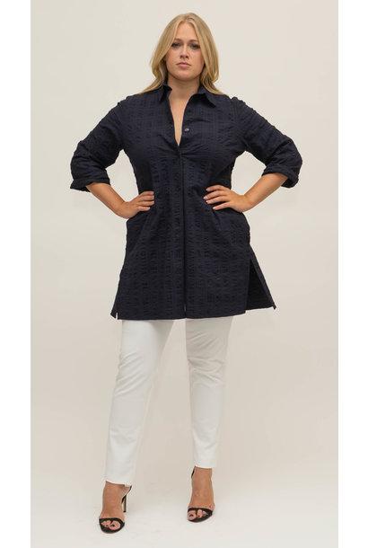 BETTINA Bluse aus Baumwoll Seersucker