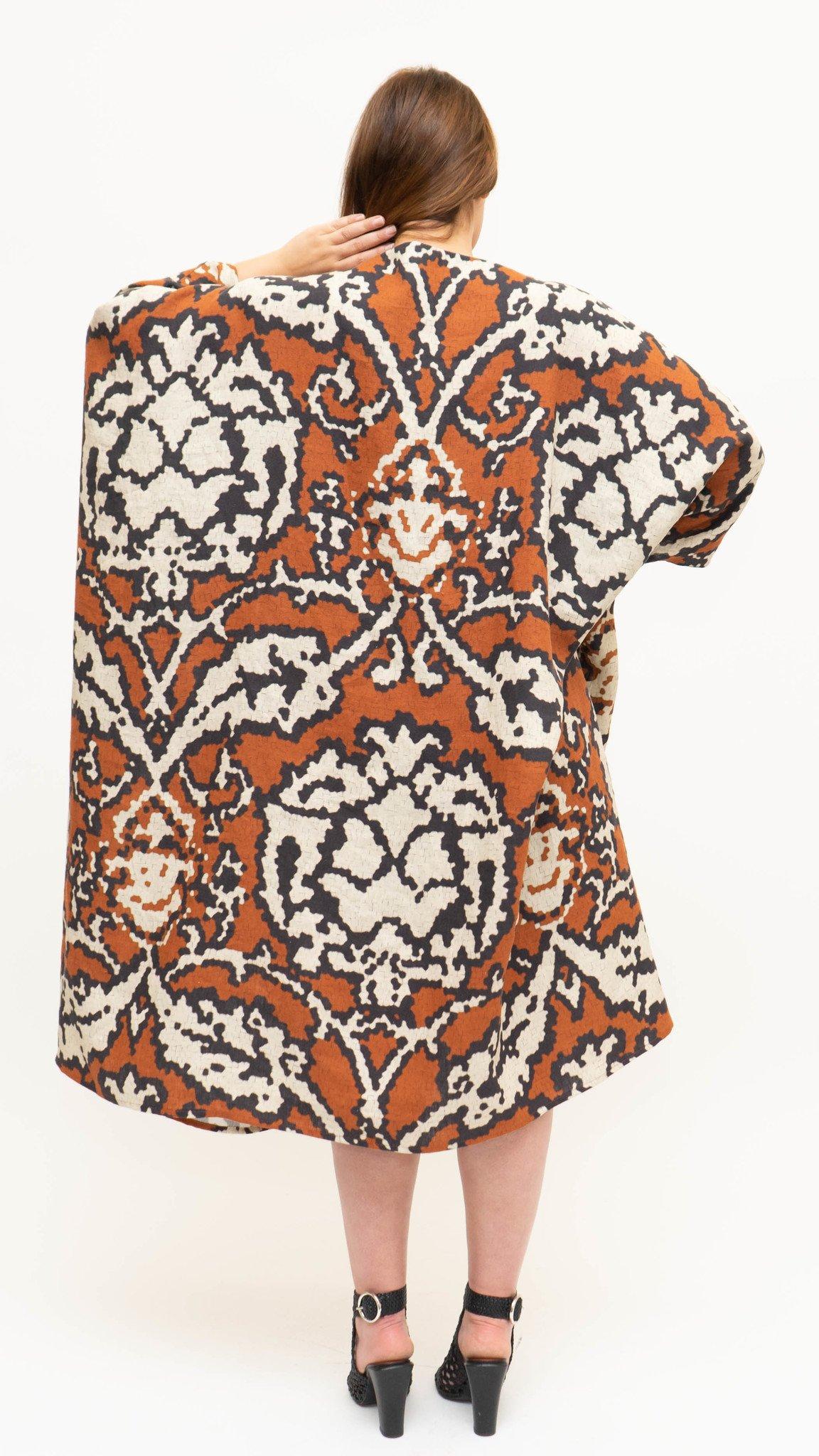Sahara Dress in printed Linnen-3