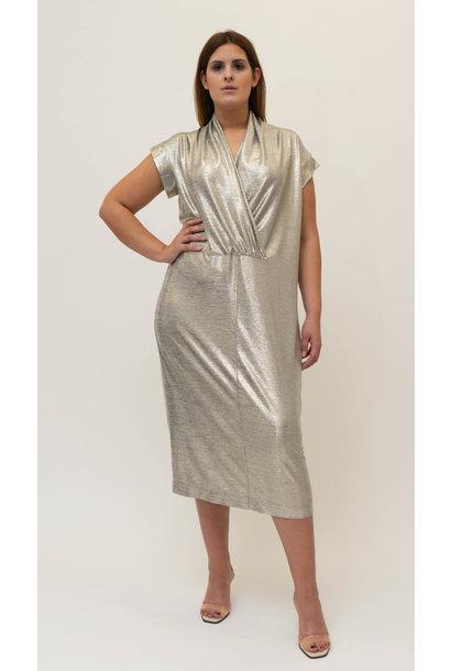 ELLEA Dress in metallic Viscose-Jersey