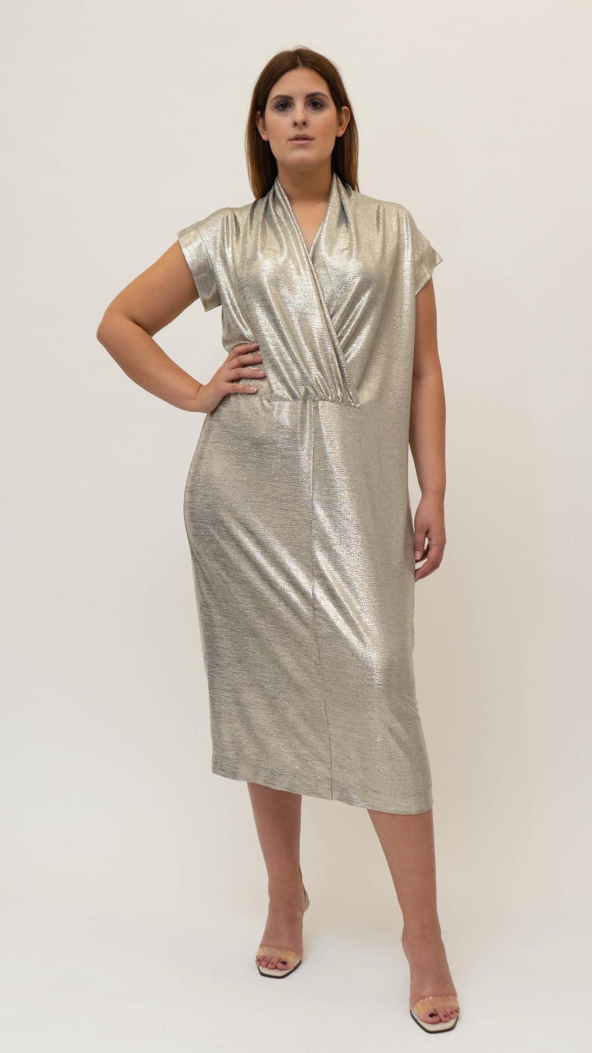Ellea Dress in metallic Jersey-1