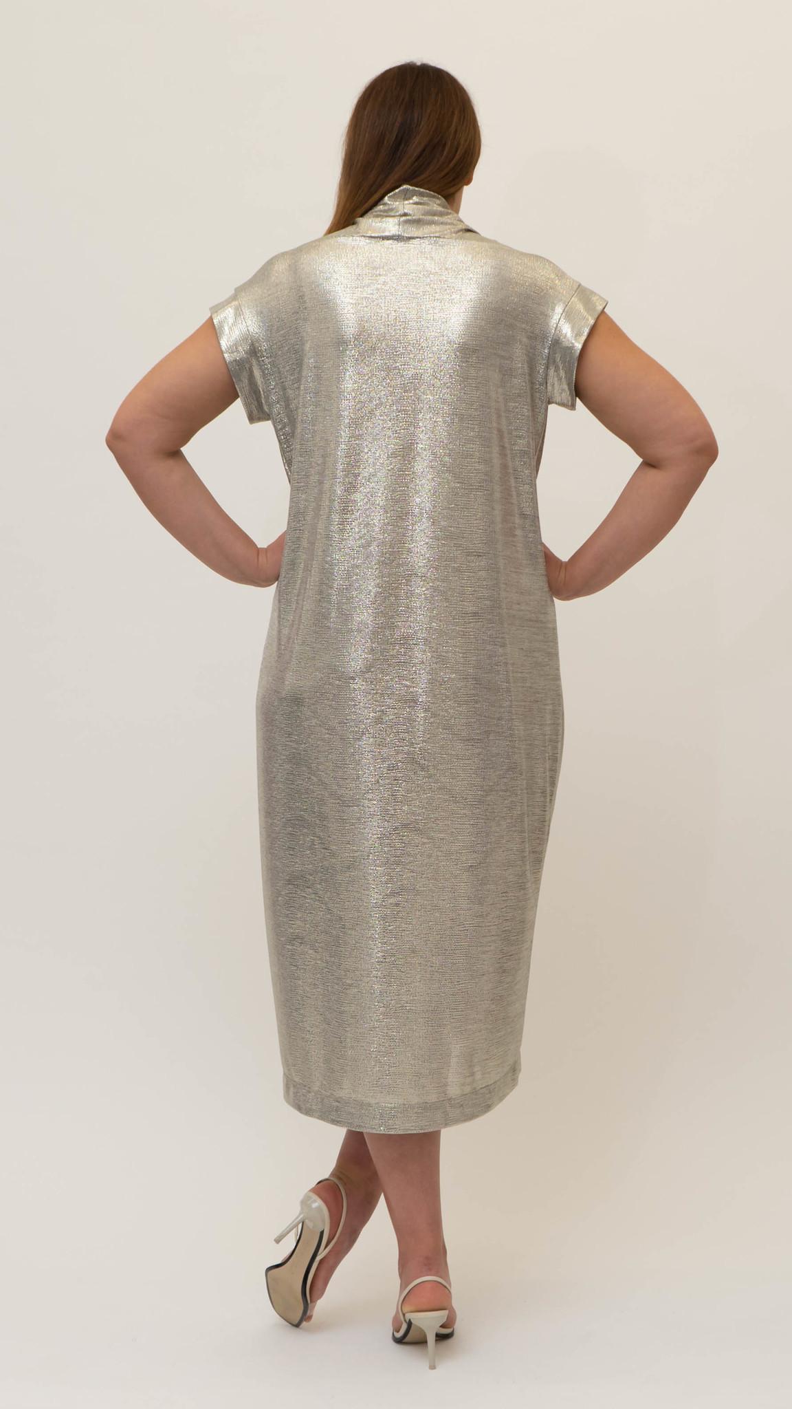 Ellea Dress in metallic Jersey-2