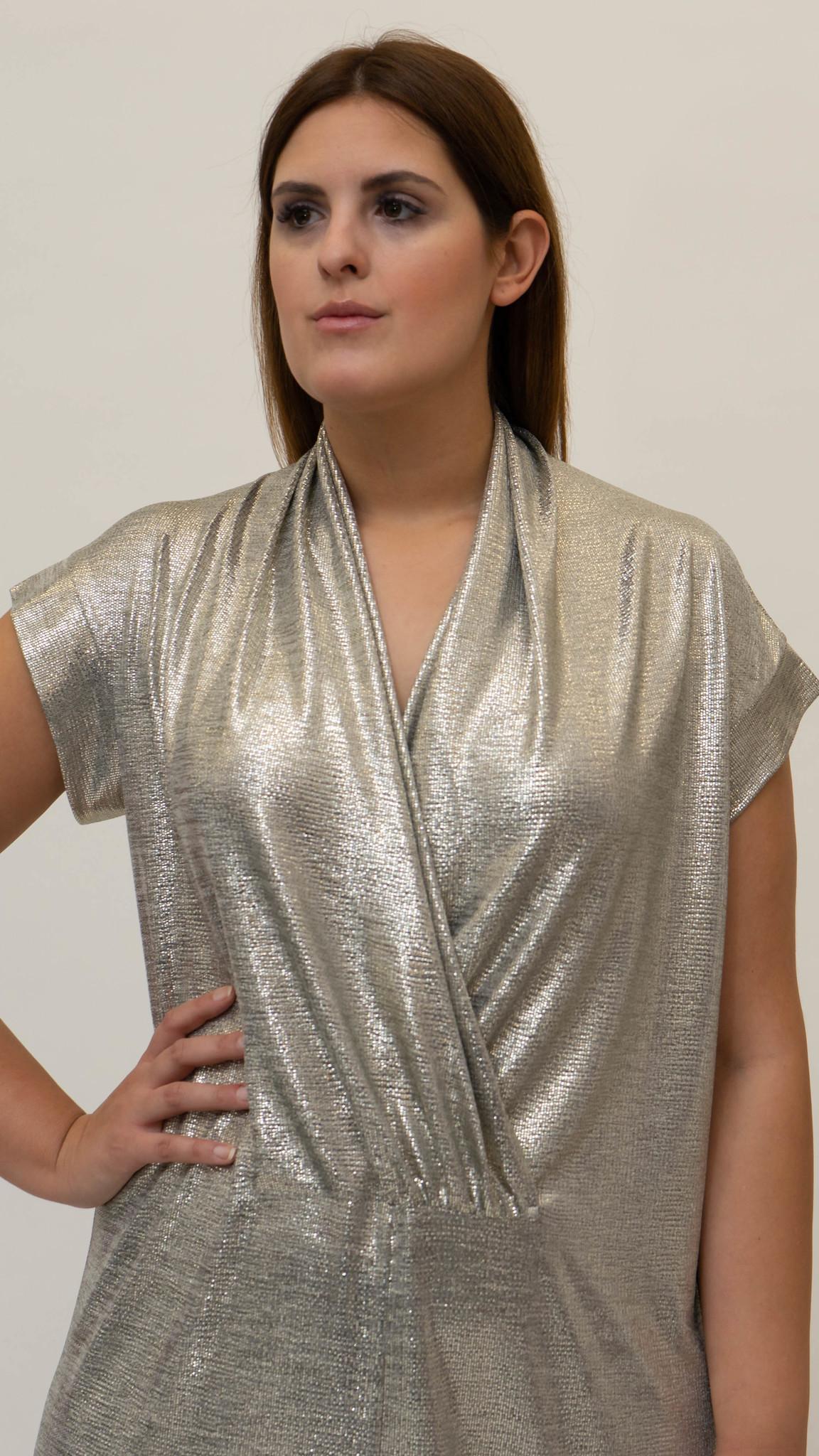 Ellea Dress in metallic Jersey-3