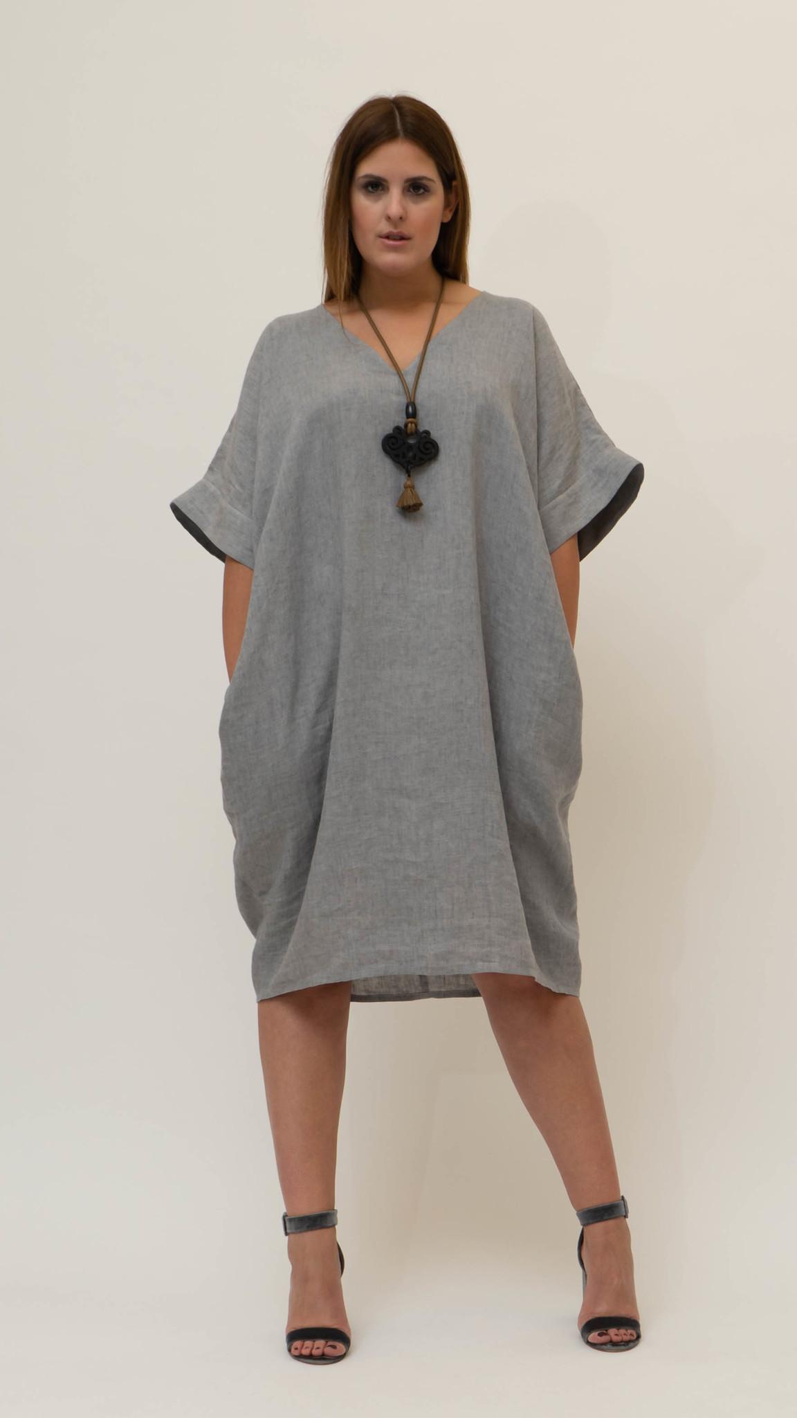 NADINE Kleid aus Leinen-1