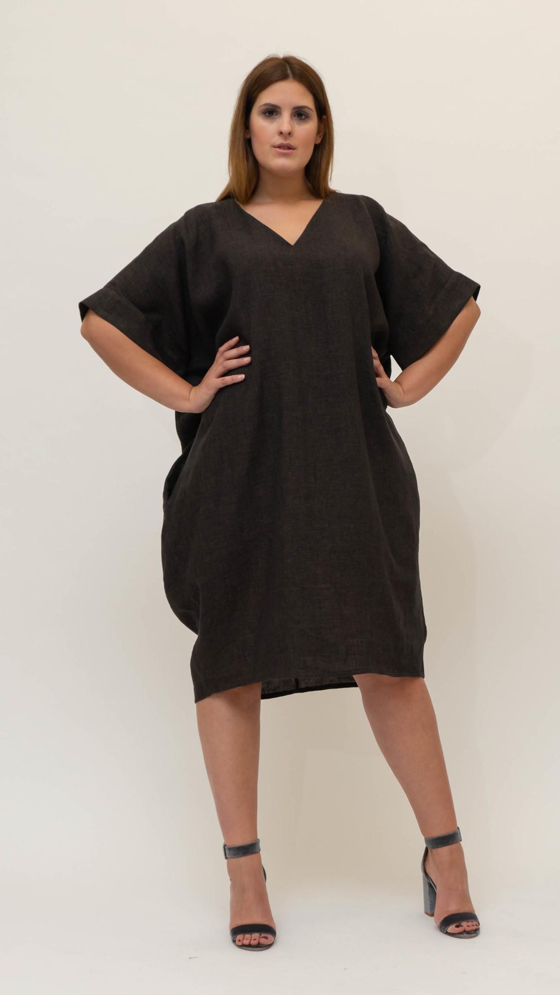 NADINE Kleid aus Leinen-4