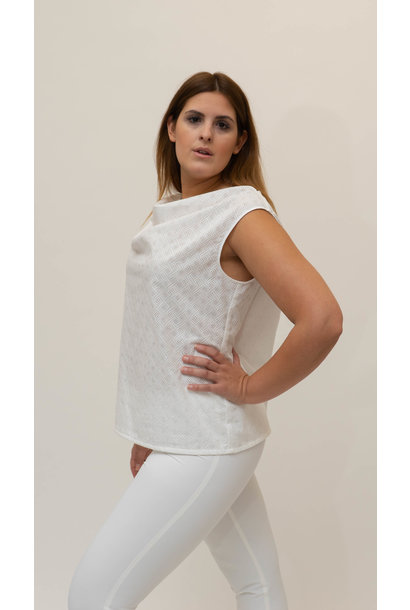 LOLITA Sleeveless Top in embroidered Cotton