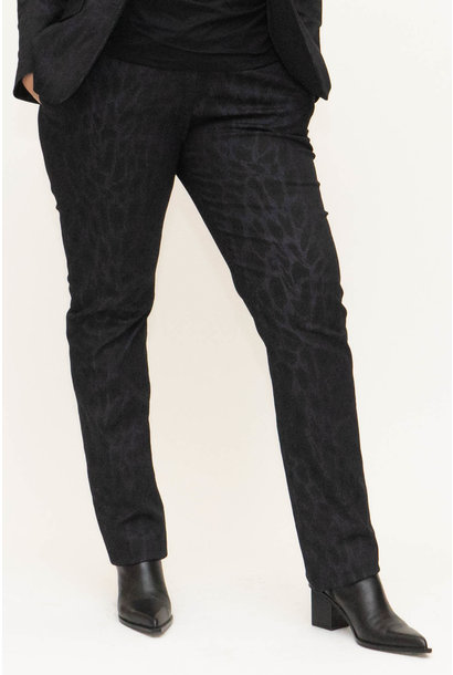 LENA Trousers aus bedrucktem Denim