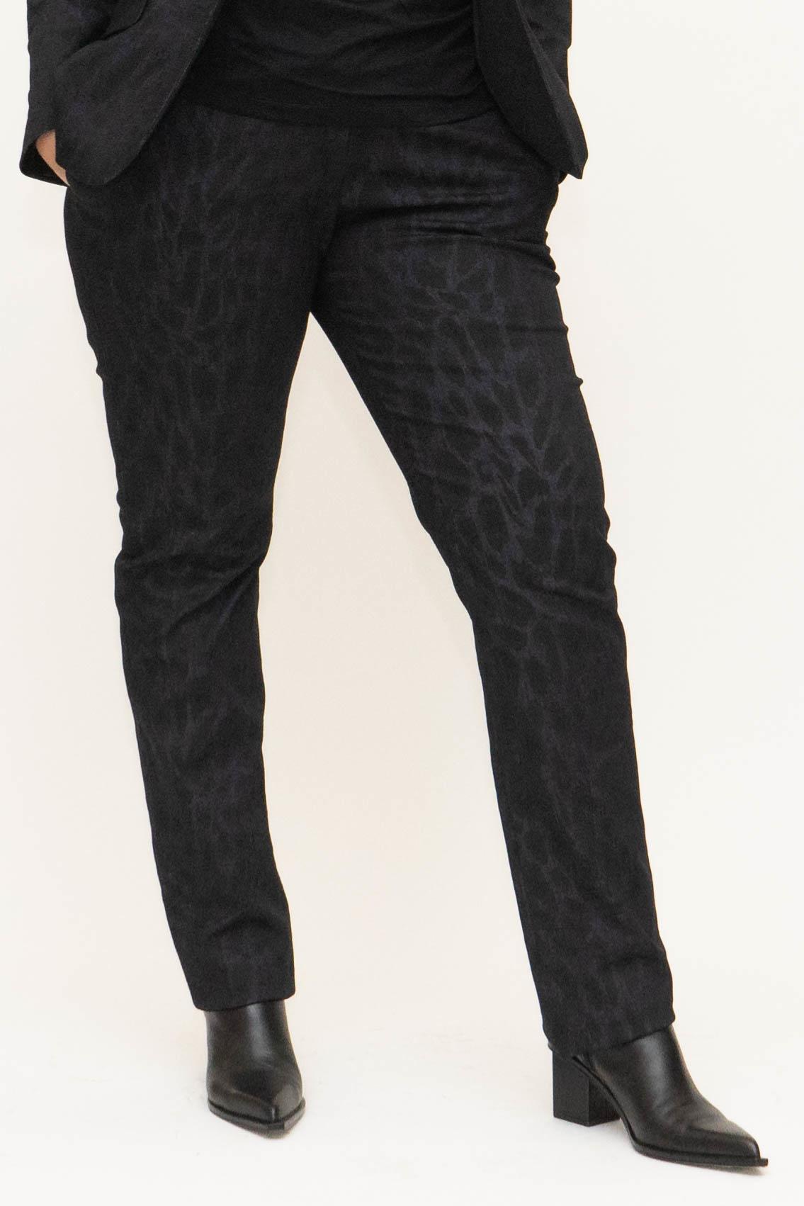 LENA Trousers in leopard printed Denim-1