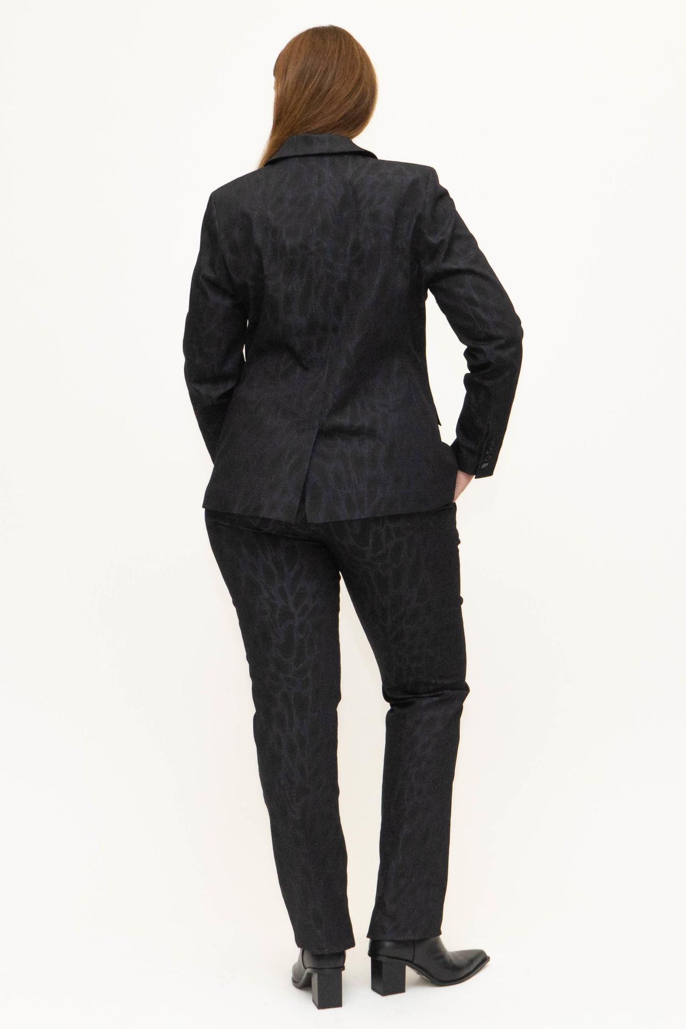 LENA Trousers in leopard printed Denim-3