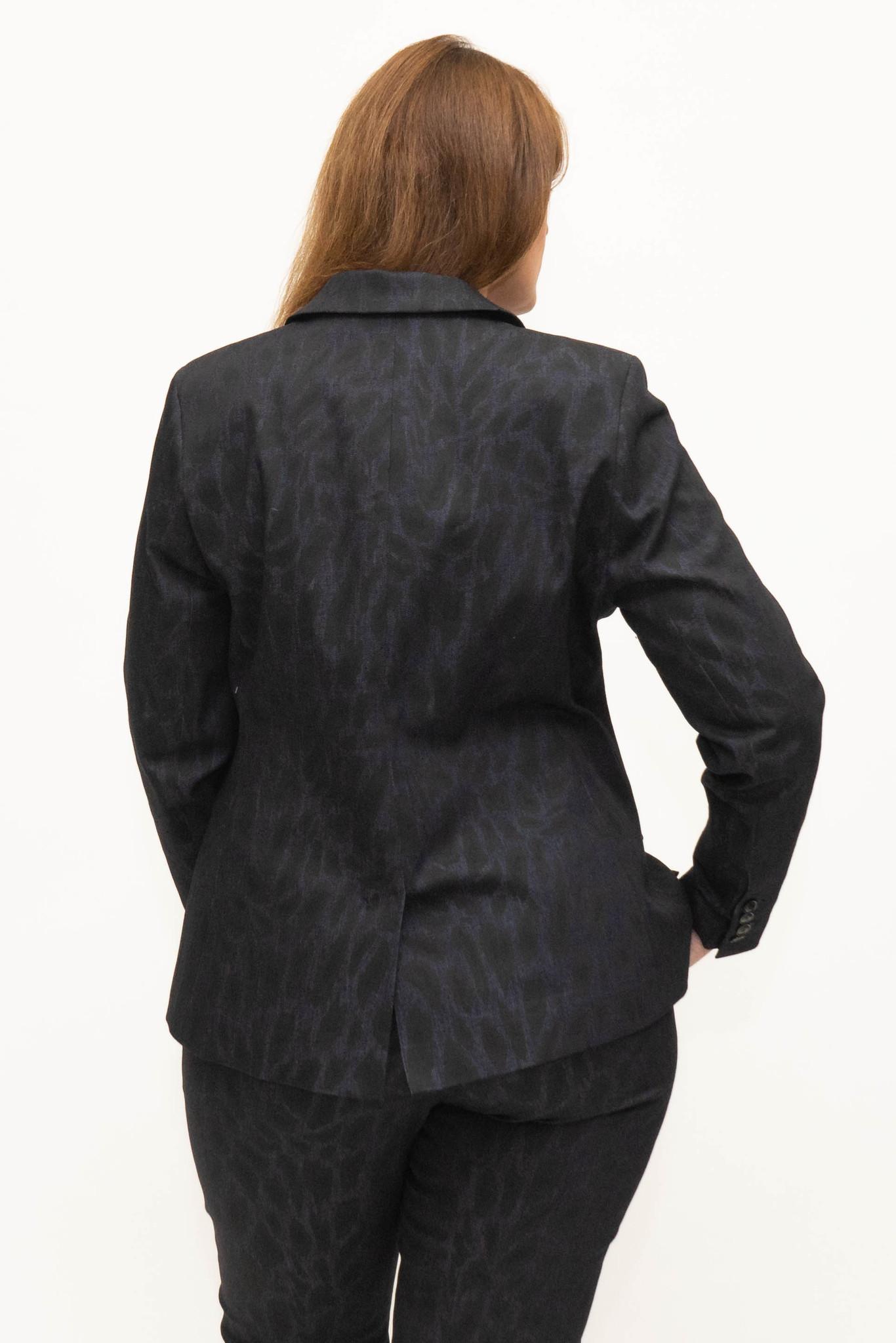 LENA Blazer in Leopard printed Denim-3