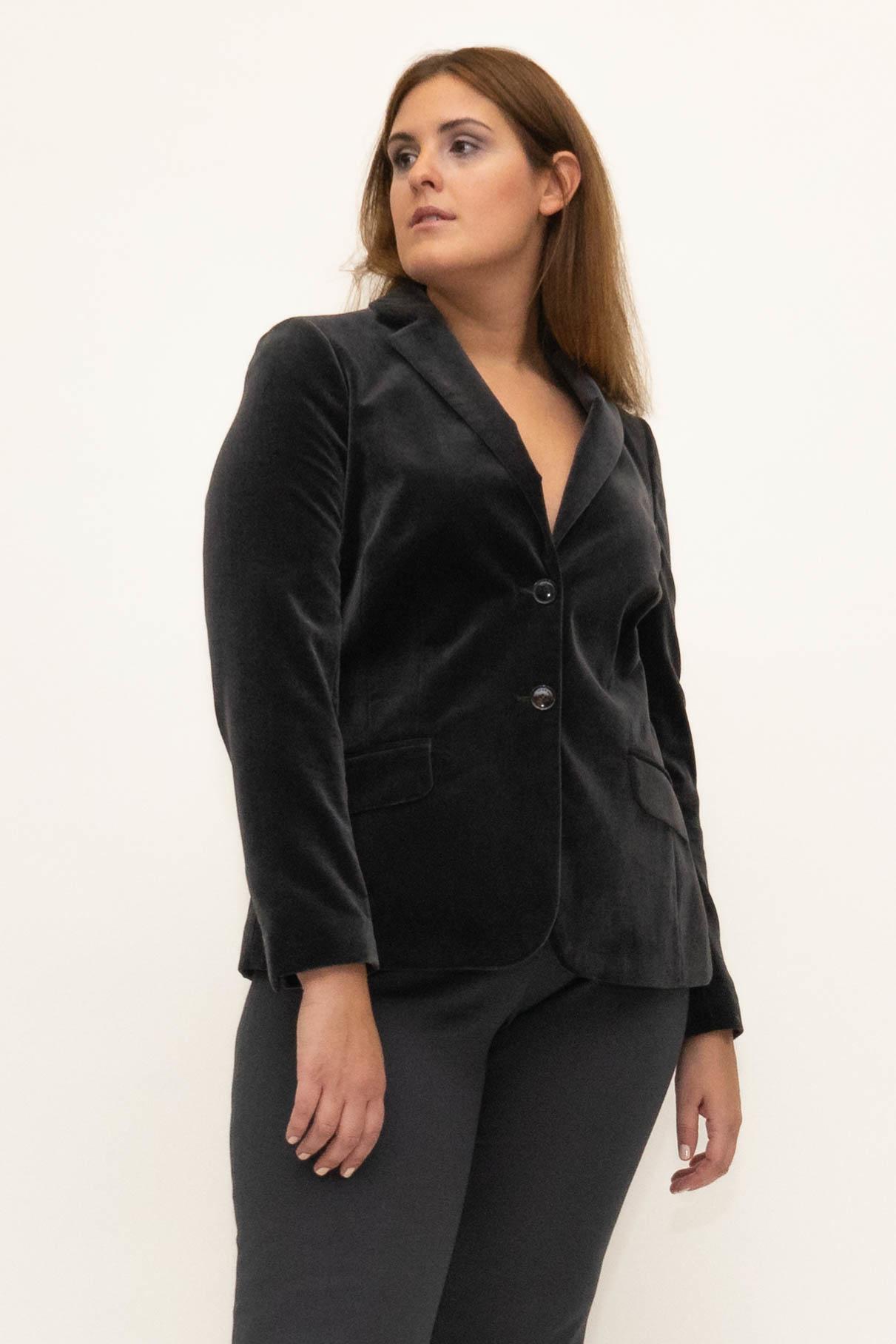 SAMIRA Blazer in Velvet-1