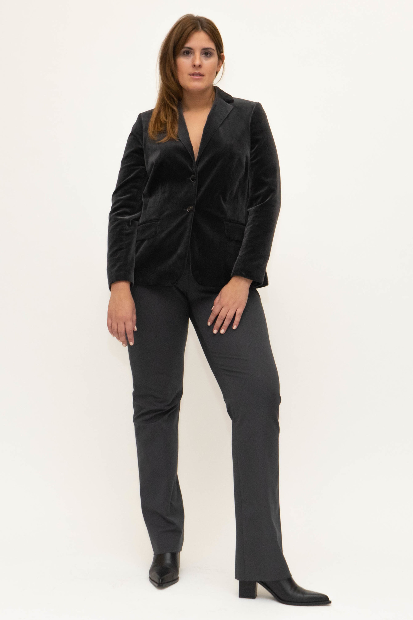 SAMIRA Blazer in Velvet-2