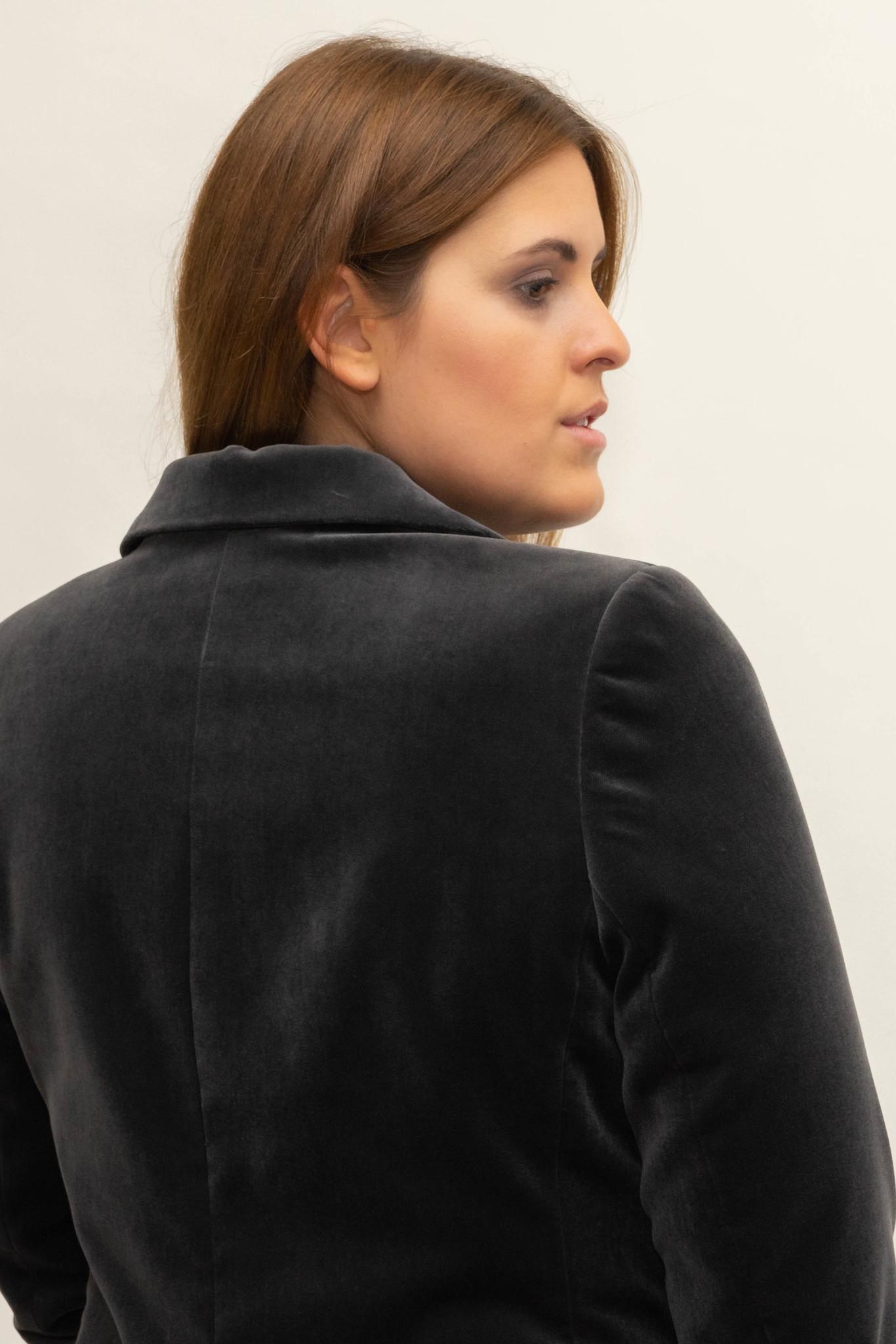 SAMIRA Blazer in Velvet-4