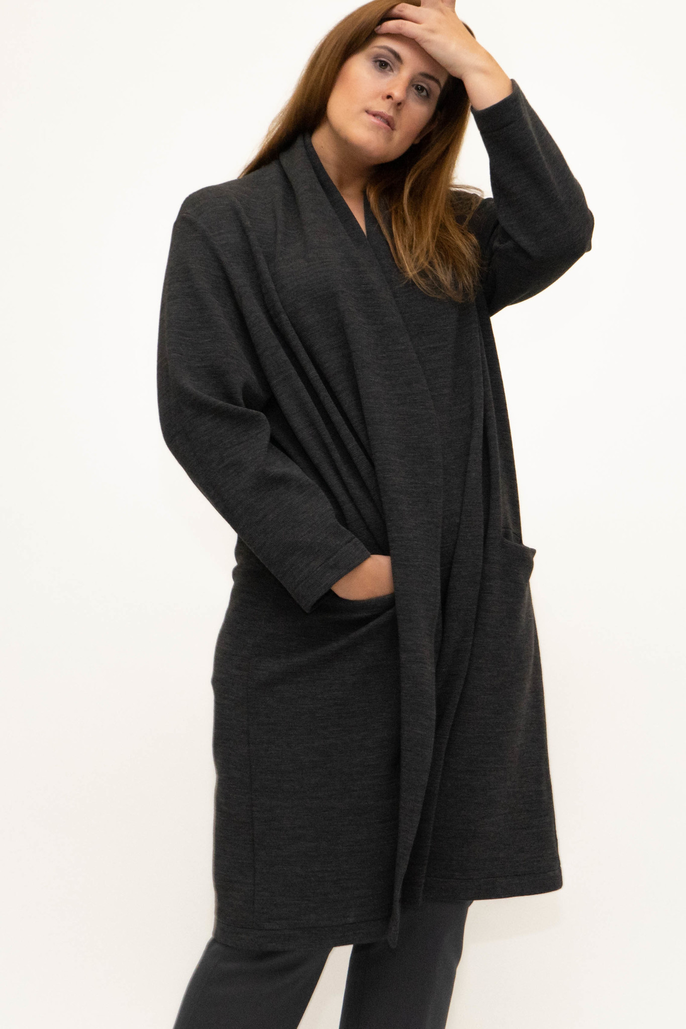 PHILIA Cardigan in Polyester-Virgin Wool blend-1