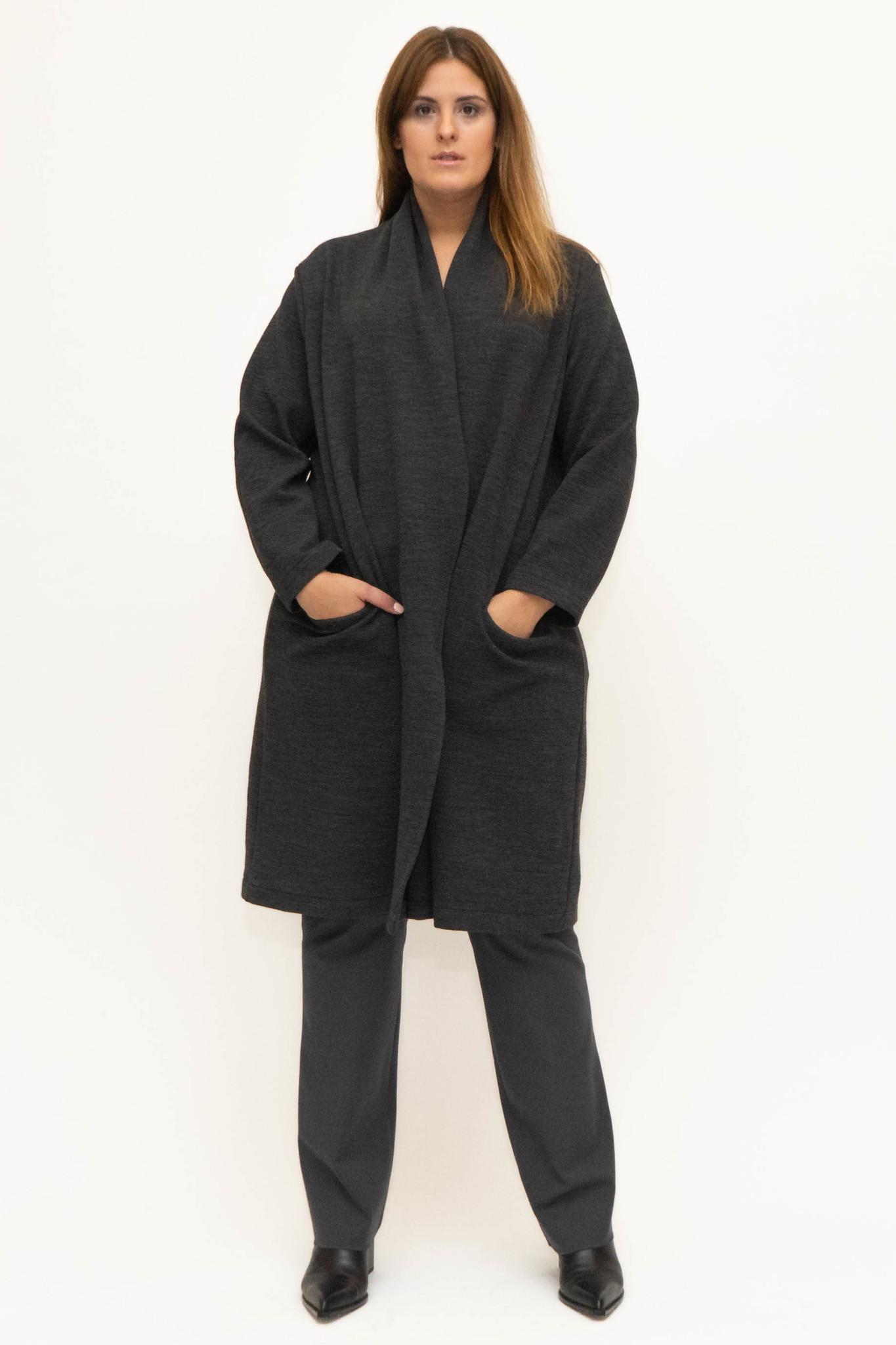 PHILIA Cardigan in Polyester-Virgin Wool blend-2