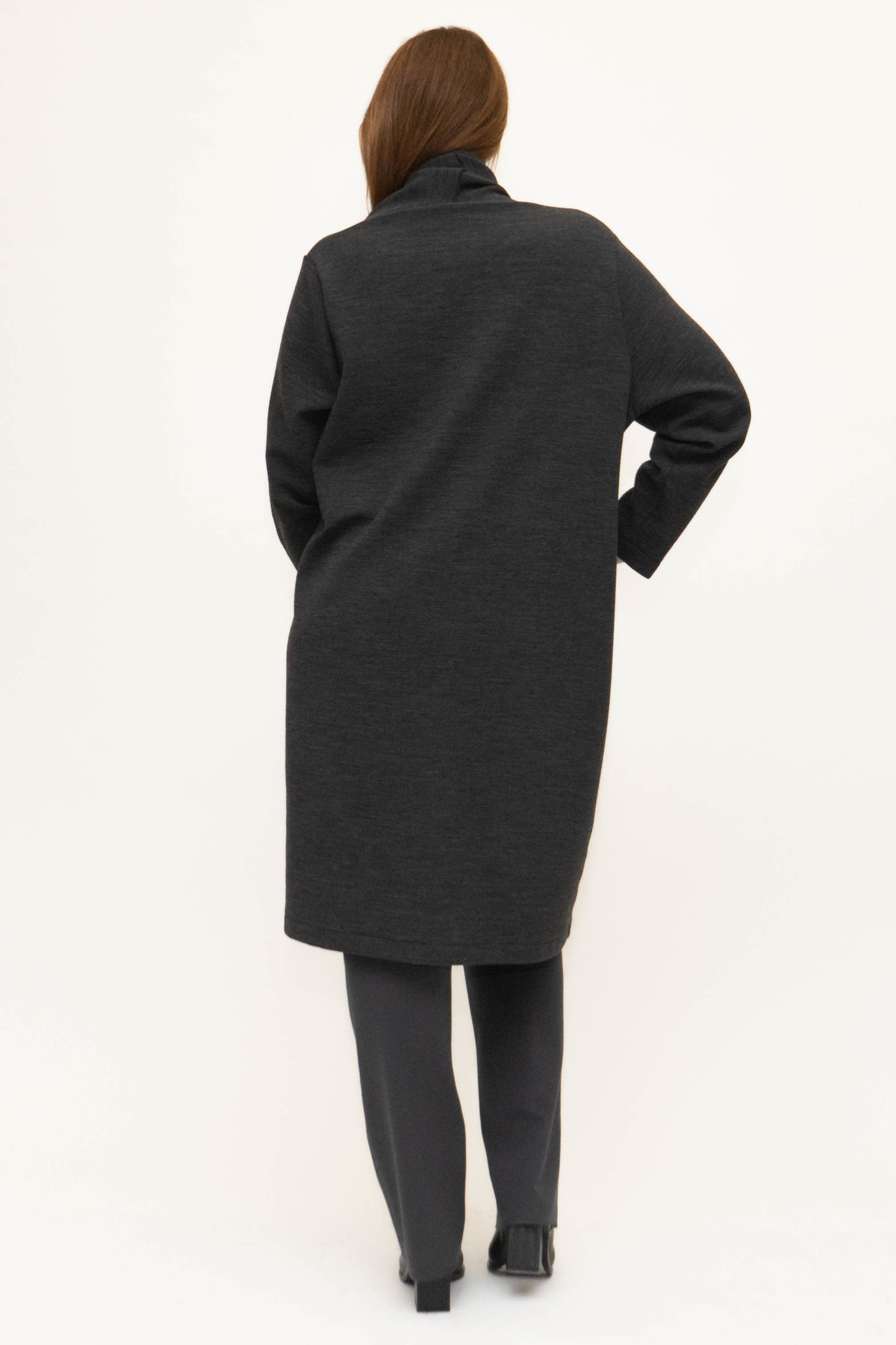 PHILIA Cardigan in Polyester-Virgin Wool blend-3