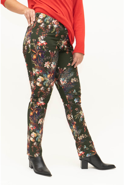 DAVINIA Trousers in printed Cotton stretch