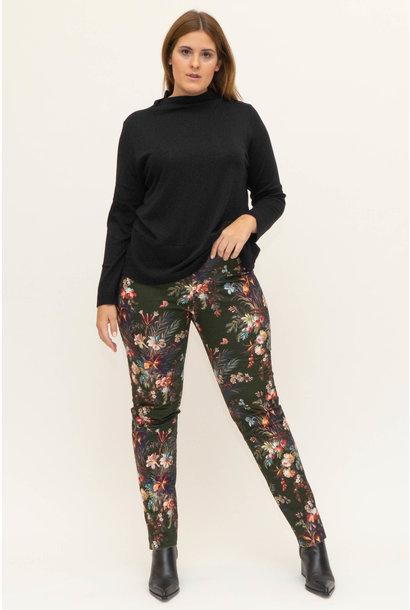 DAVINIA Trousers in printed Cotton stretch