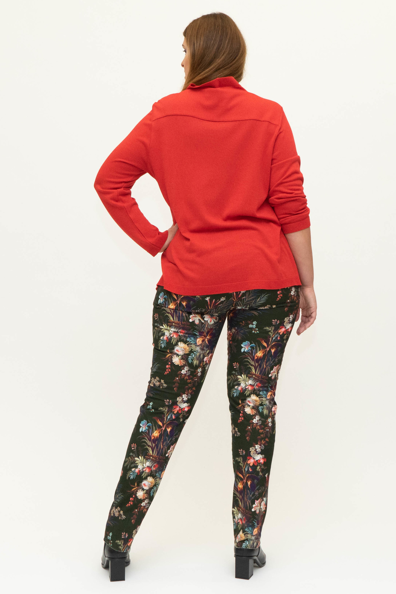 DAVINIA Trousers in printed Cotton stretch-3