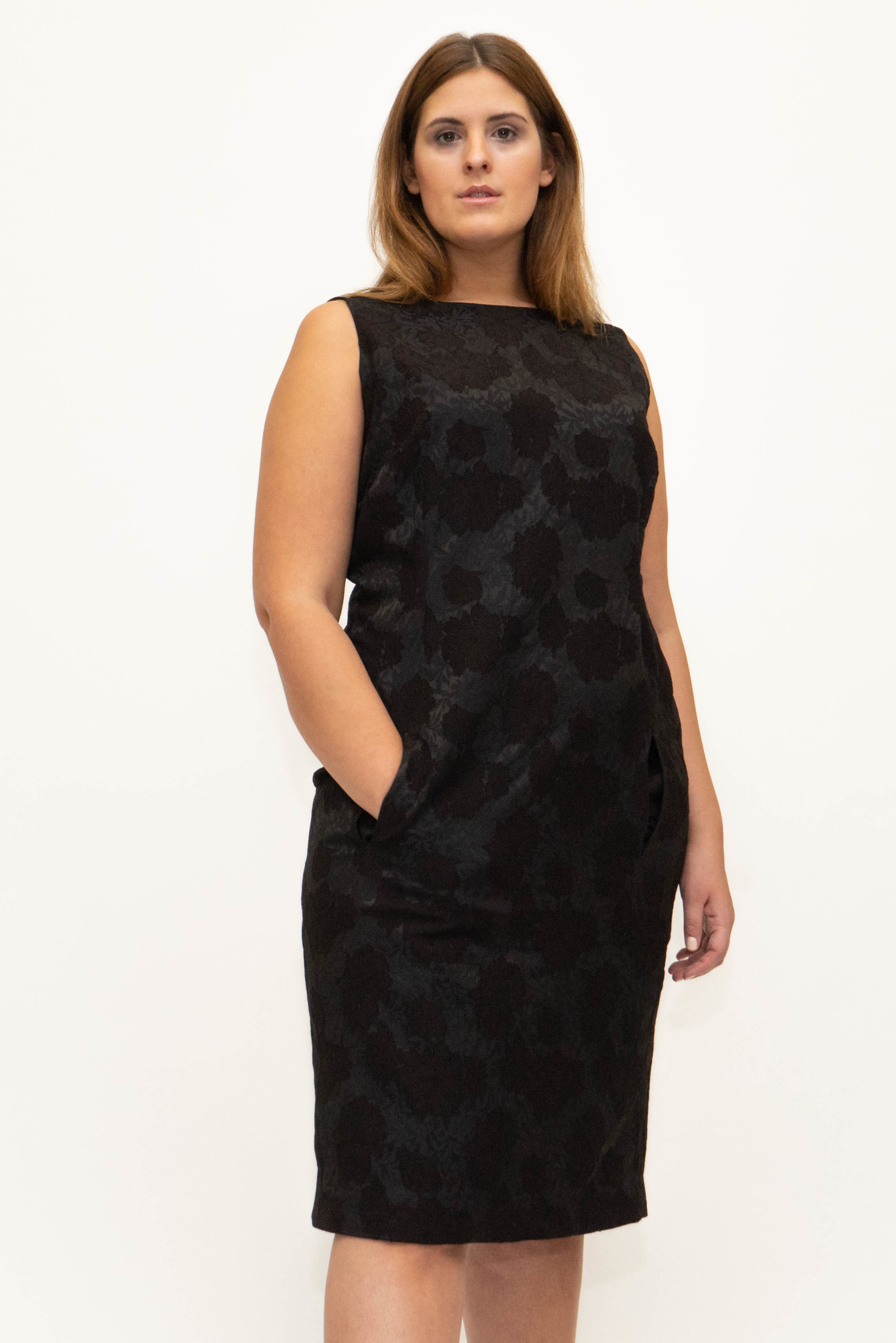 AMELIA dress in Viscose Jacquard-1