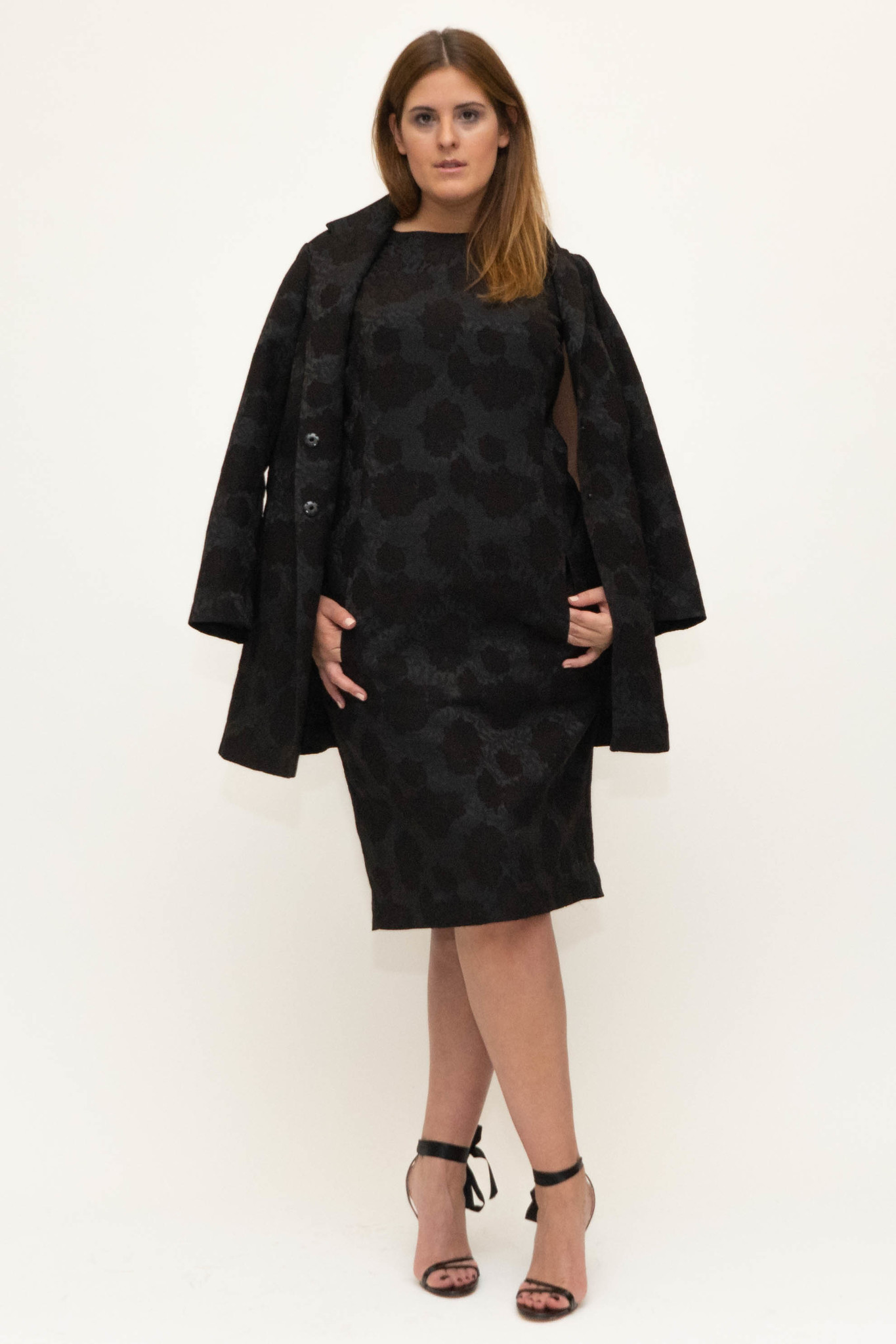 AMELIA dress in Viscose Jacquard-5