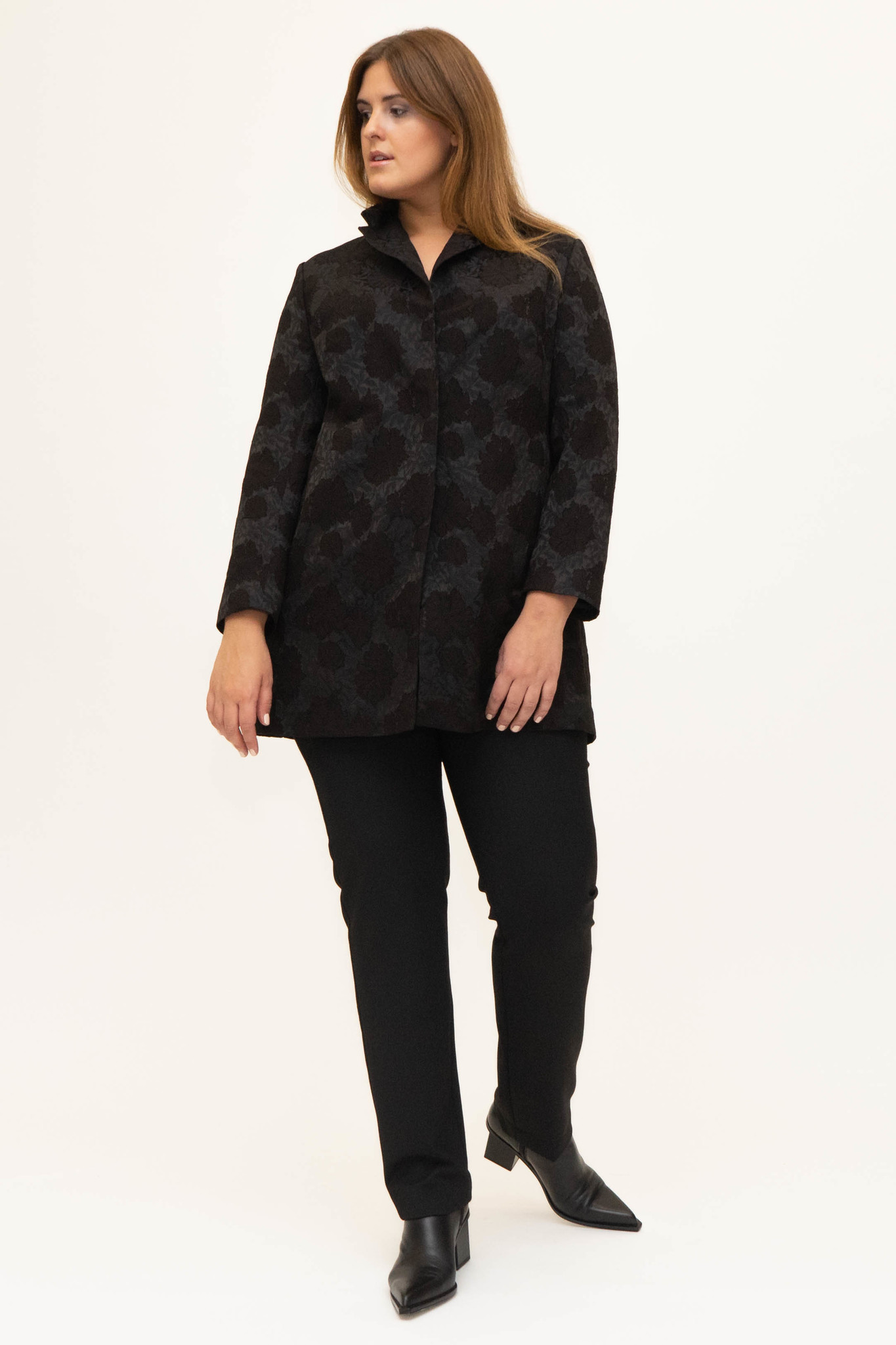 AMELIA Jacket in Viscose Jacquard-2