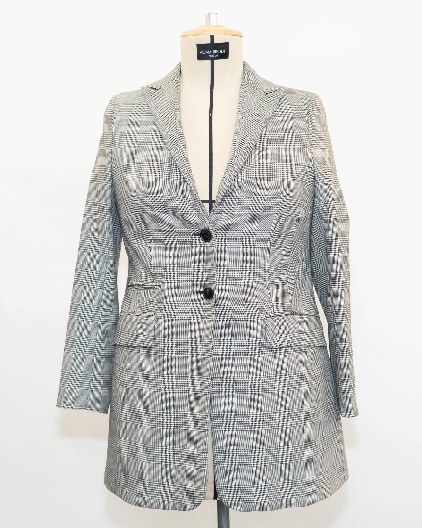 THEA Blazer in Pied-de-Poule Wool-1