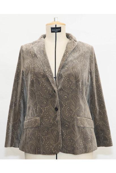 SAMANTHA Velvet Blazer in Cottonmix