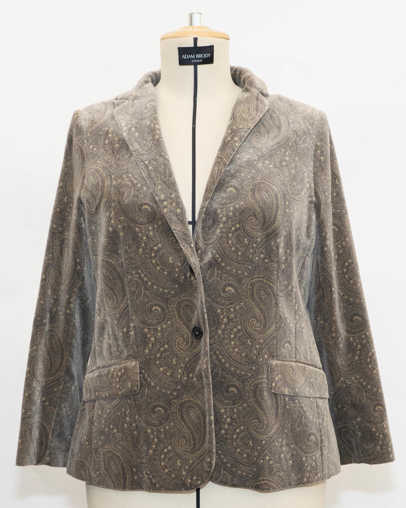 SAMANTHA Velvet Blazer in Cottonmix-1